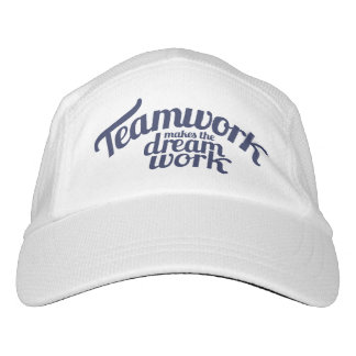 Slogan teamwork makes the dream work hat