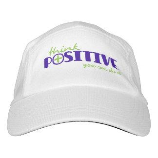 Slogan think positive blue green plus hat
