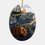 Sloop Clearwater Adorno Navideño Ovalado De Cerámica
