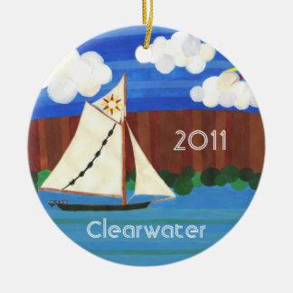 Sloop Clearwater Ceramic Ornament