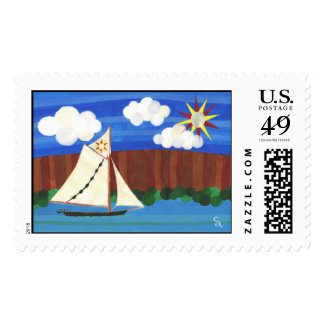 Sloop Clearwater Postage