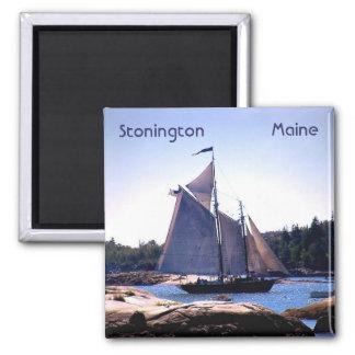 Sloop in Stonington Harbor Magnet