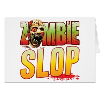 Slop Zombie Head Greeting Card