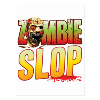 Slop Zombie Head Post Cards