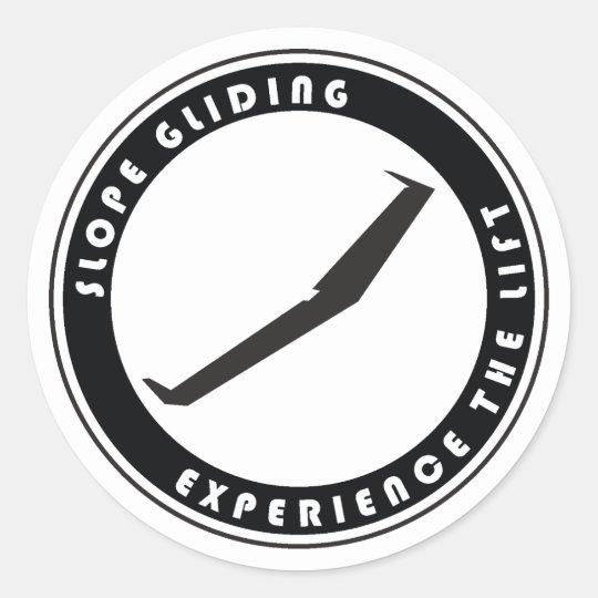 Slope Gliding Classic Round Sticker
