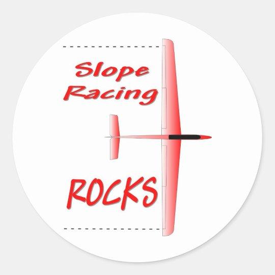 Slope Soaring ROCKS Classic Round Sticker