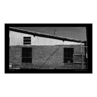 Slope Urban Industrial Digital Fine Art Landscape Poster
