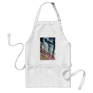 Sloping hill, California Red flowers Adult Apron
