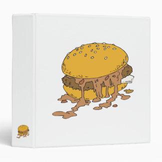 sloppy chili burger vinyl binders