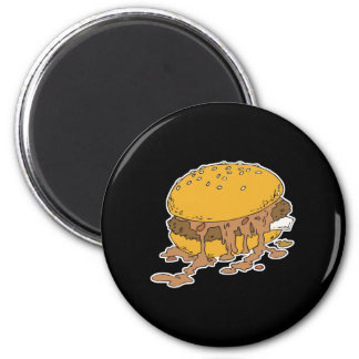 sloppy chili burger fridge magnets