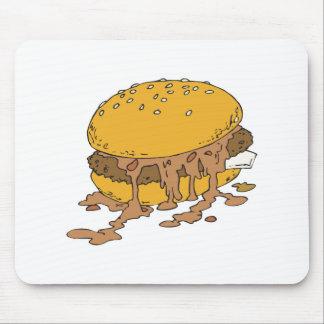 sloppy chili burger mousepad