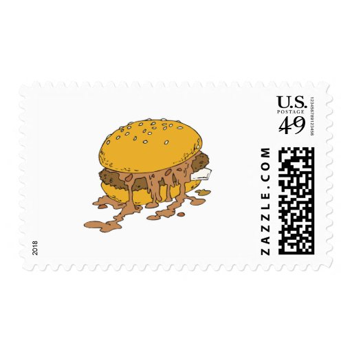 sloppy chili burger postage stamps