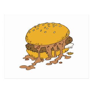 sloppy chili burger postcards