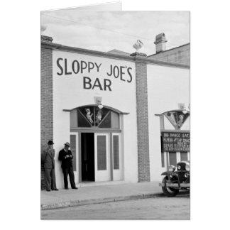 Sloppy Joe's Bar, Key West, 1930s Card