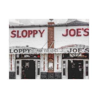 Sloppy Joe's Key West Wrapped Canvas