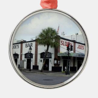 Sloppy Joe's Round Metal Christmas Ornament