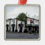 Sloppy Joe's Square Metal Christmas Ornament