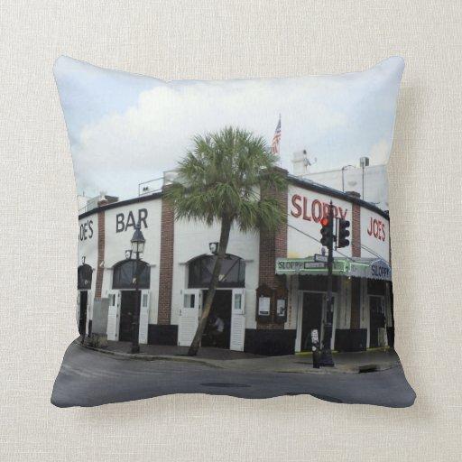 Sloppy Joe's Throw Pillow