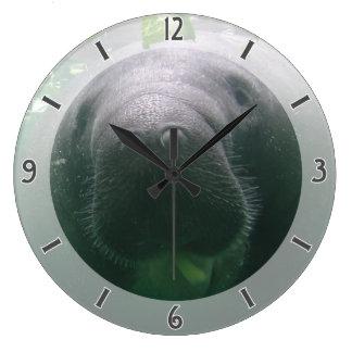 Sloppy Manatee Clock large round
