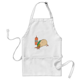 sloppy taco with salsa adult apron