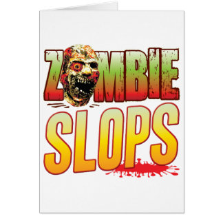 Slops Zombie Head Greeting Cards