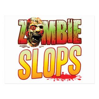 Slops Zombie Head Postcard