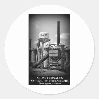 SLOSS FURNACES - National Historic Landmark Classic Round Sticker