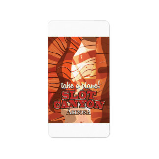 Slot Canyon Arizona travel poster Label