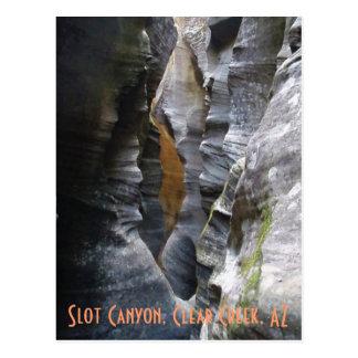 Slot Canyon, Clear Creek, AZ Postcard