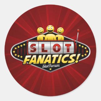 Slot Fanatics Classic Round Sticker