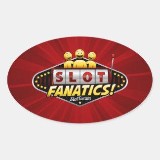 Slot Fanatics Oval Sticker