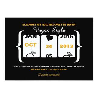 Slot Machine Bachelorette Party in Vegas 5x7 Paper Invitation Card