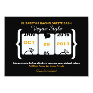 Slot Machine Bachelorette Party in Vegas Card