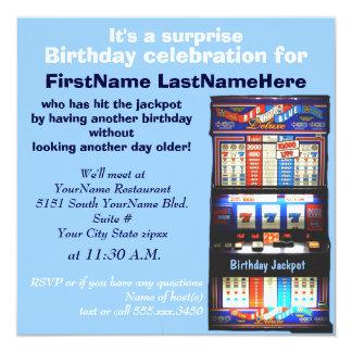 Slot Machine Birthday Party Invitation