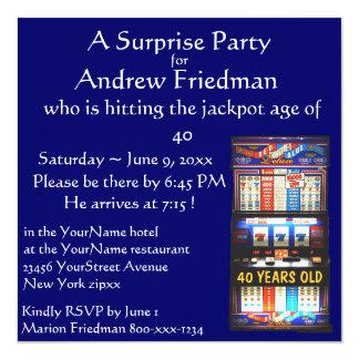 Slot Machine Birthday Party Winner Invitation