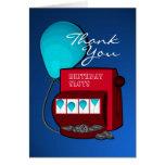 Slot Machine Birthday Thank You Greeting Card