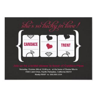Slot Machine Bridal Shower 5x7 Paper Invitation Card