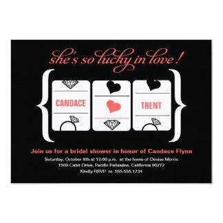 Slot Machine Bridal Shower Card