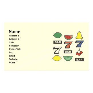 Slot Machine Business Cards