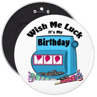 Slot Machine Casino Birthday Button