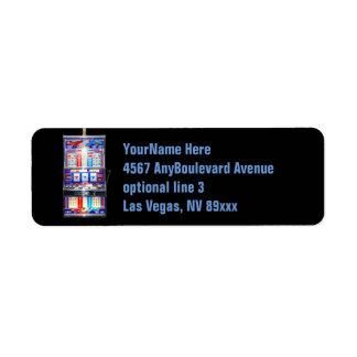 Slot Machine Casino Label