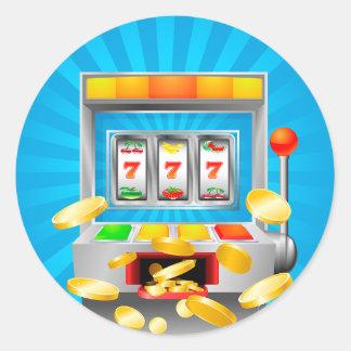 Slot Machine Classic Round Sticker