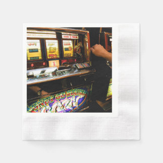 Slot Machine Closeup Paper Napkin