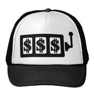 Slot machine dollar mesh hats