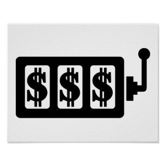 Slot machine dollar poster