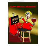 SLOT MACHINE HAPPY BIRTHDAY GRANDMA GREETING CARD