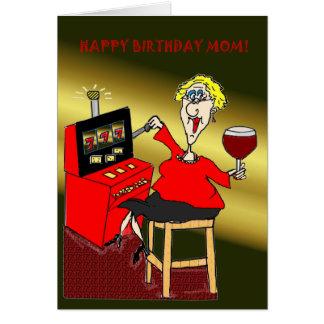 SLOT MACHINE HAPPY BIRTHDAY MOM GREETING CARDS