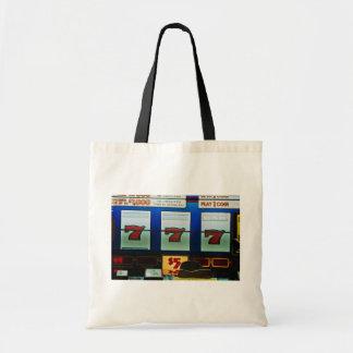 Slot machine in a casino budget tote bag