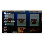 Slot machine in a casino business card templates