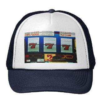 Slot machine in a casino trucker hat